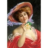 Женщина с розой