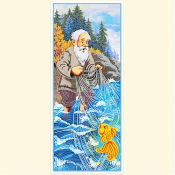 Рыбак и Золотая рыбка - Схемы и наборы для вышивания бисером