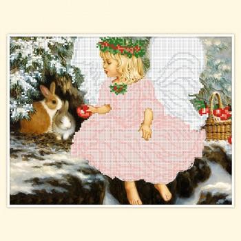 angel under xmas tree