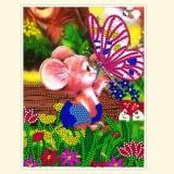 Мышонок и бабочка