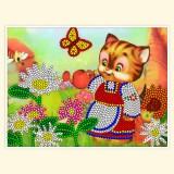 Кошечка-цветочница