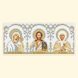 Складень: БМ Казанская, Господь, Св. Матрона