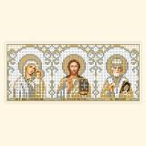 Складень: БМ Казанская, Господь, Св. Николай