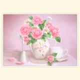 """Принт для творческой композиции """"Букет из роз и ромашек"""""""