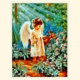 """Принт для творческой композиции """"Ангел с олененком"""""""
