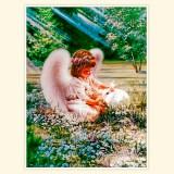 """Принт для творческой композиции """"Ангел с кроликом"""""""