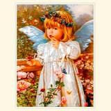 """Принт для творческой композиции """"Ангел и бабочки"""""""