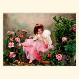 """Принт для творческой композиции """"Ангелочек в розовом"""""""