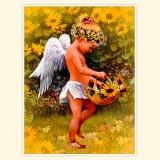"""Принт для творческой композиции """"Ангел с подсолнухами"""""""