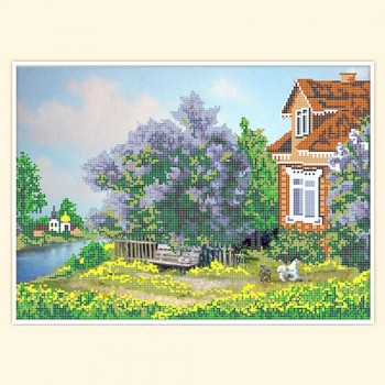 cottage in lilac