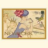 """Винтажная открытка """"Нью-Йорк"""""""