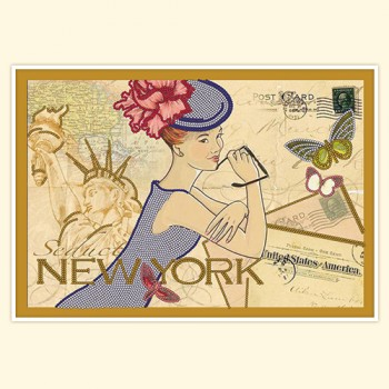 Vintage card: New York