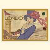 """Винтажная открытка """"Лондон"""""""