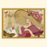 "Винтажная открытка ""Париж"""