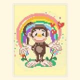 Радужное настроение маленькой обезьянки
