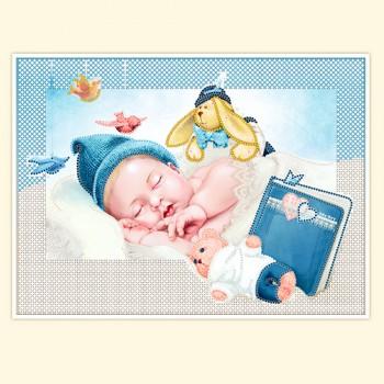 metrika, newborn, beadwork,  27x35, rs-275