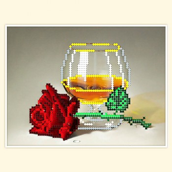 Rose and wine glass