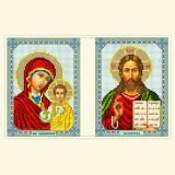 Венчальная пара: Богоматерь Казанская, Спаситель