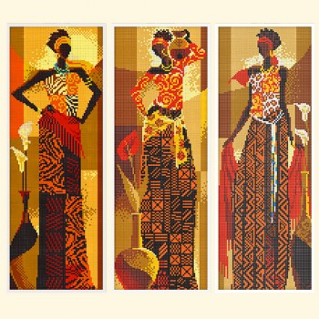 Afro Triptych