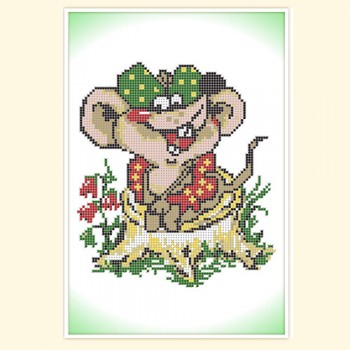 Вышивка мышки-хохотушки 22