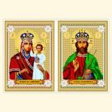 Венчальная пара: Образ Богородицы Призри на смирение, Господь Вседержитель