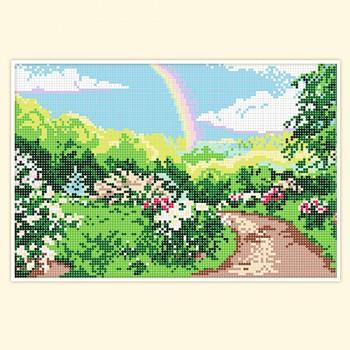 rainbow in garden