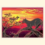 Пантера на закате