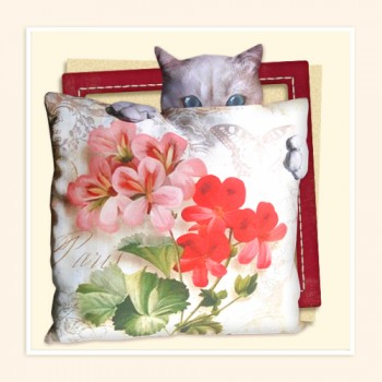 decorative pillow Hide and seek