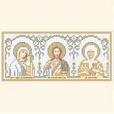 Складень: ПБ Казанская, Господь Вседержитель, Св. Матрона