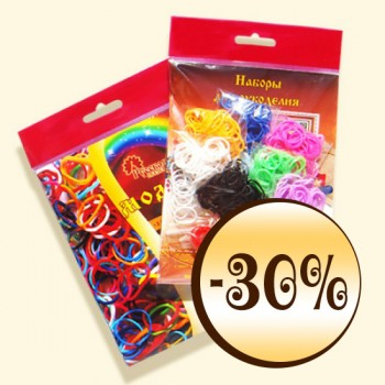 "rainbow loops, assortie, acsessoary band, ""Modnitsa"""