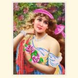 Молодая дама с розой