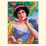 Женщина под апельсиновым деревом