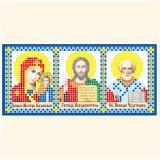 Складень: Богоматерь Казанская, Господь Вседержитель, Николай Чудотворец