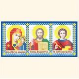 Складень: Богоматерь Казанская, Господь Вседержитель, Св. Пантелеймон Целитель