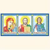 Складень: Богоматерь Казанская, Господь Вседержитель, Св. Архангел Гавриил