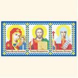 Складень: Богоматерь Казанская, Господь Вседержитель, Св. Параскева Пятница