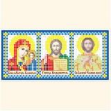 Складень: Богоматерь Казанская, Господь Вседержитель, Св. Алексей Человек Божий