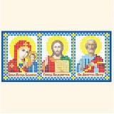 Складень: Богоматерь Казанская, Господь Вседержитель, Св. Апостол Петр