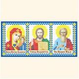 Складень: Богоматерь Казанская, Господь Вседержитель, Св. Пророк Илья