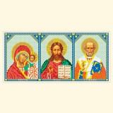 Складень: Богоматерь Казанская, Спаситель, Св. Николай Чудотворец