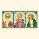 Складень: Св. Николай Чудотворец, Св. Сергий Радонежский, Св. Серафим Саровский